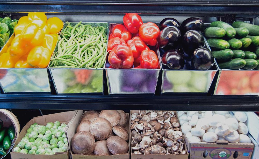 Organic and GMO free produce