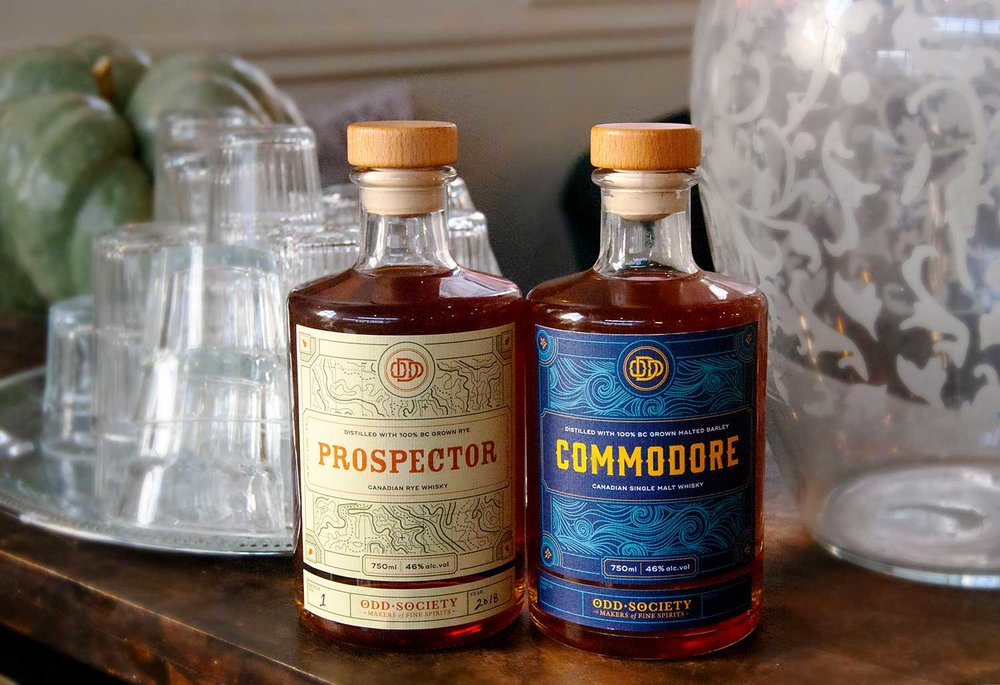Commodore Canadian Single Malt Whisky and Prospector Canadian Rye Whisky