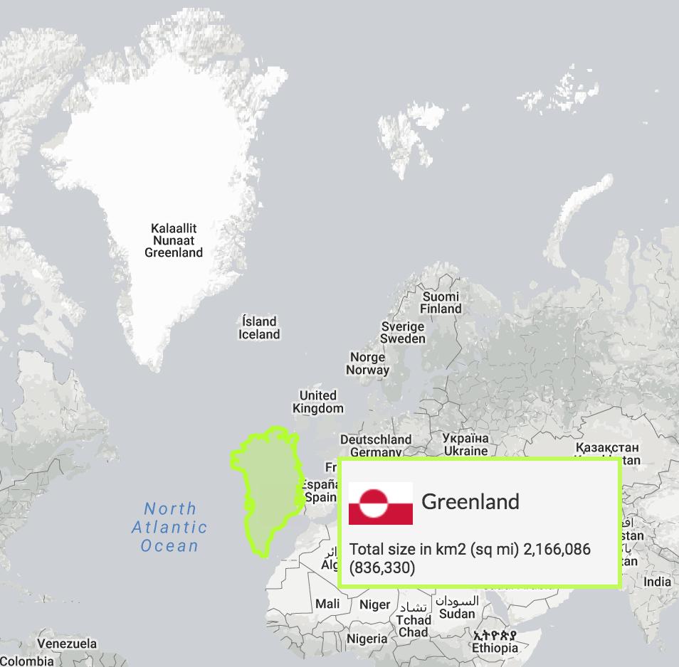 Greenland True Size