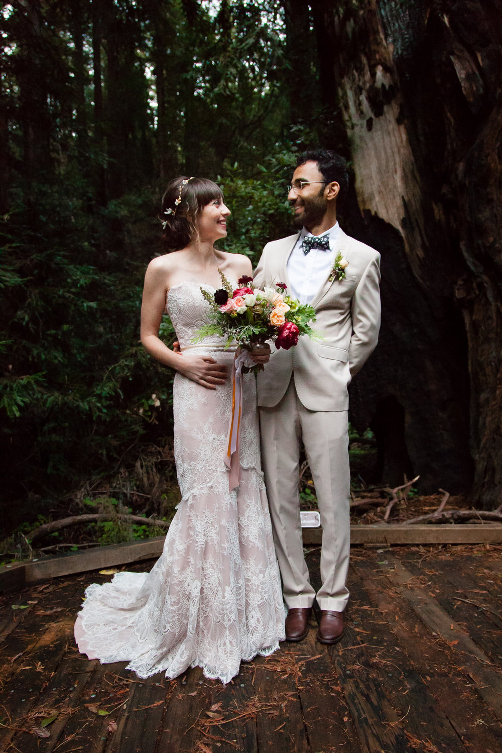 The perfect wedding in the woods!