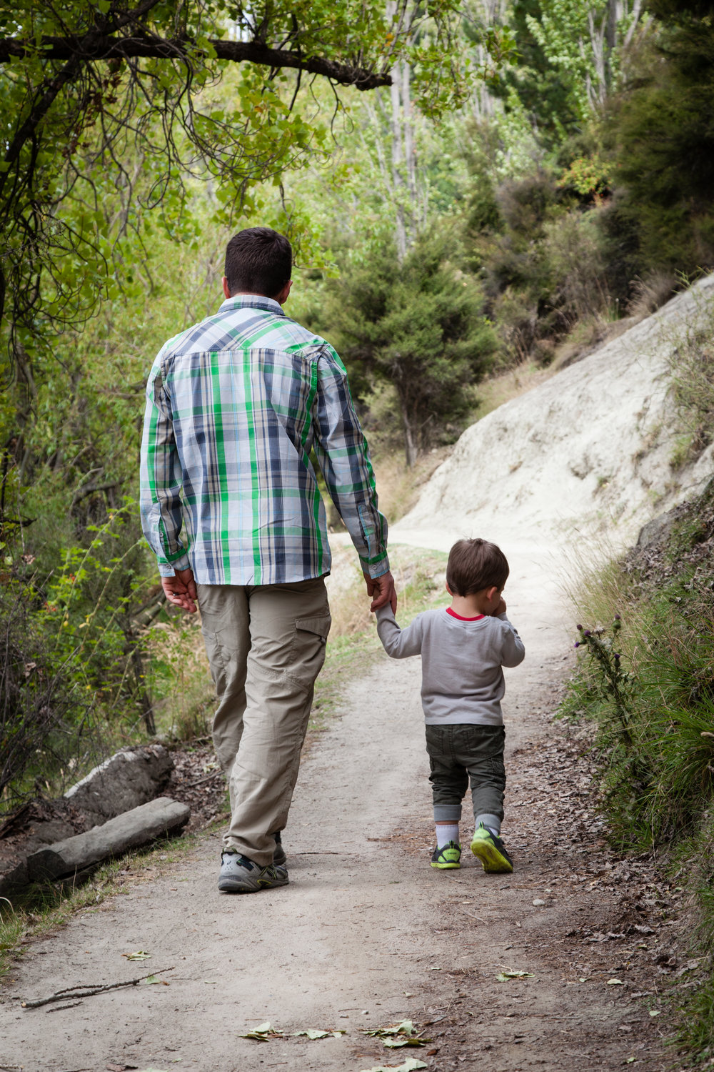 Hiking with Daddy.