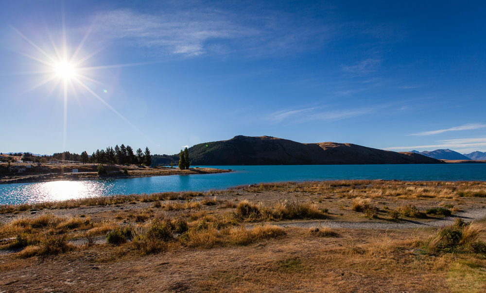 The incredible blue waters of Lake Tekapo.
