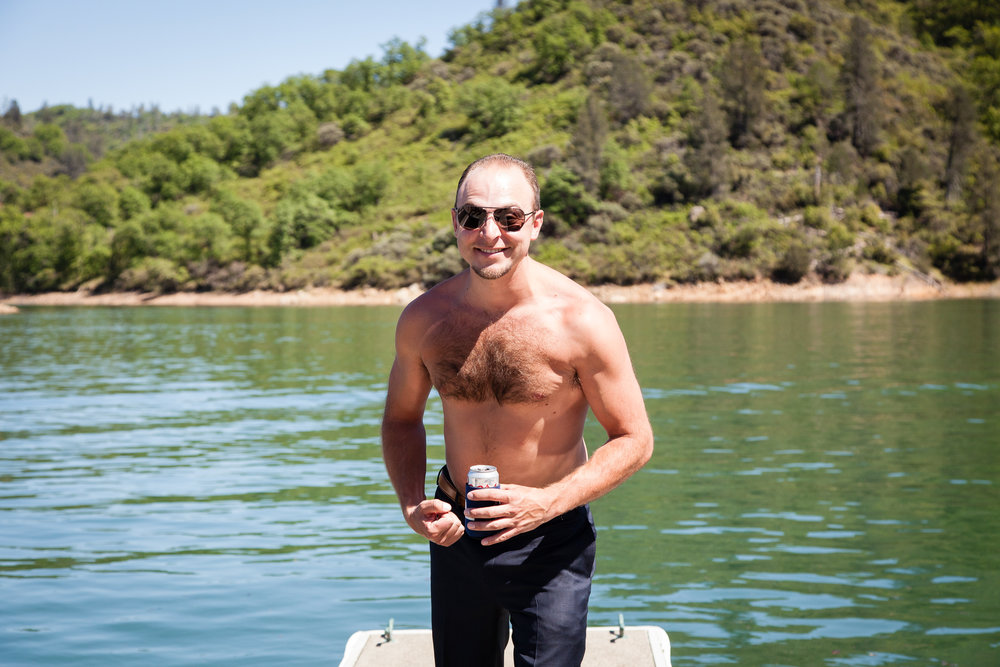 Wouldn't be a trip the lake without a topless Darren!