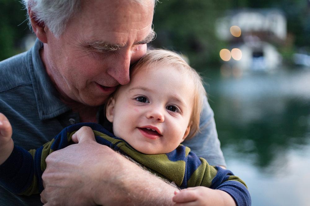 Grandpa snuggles!