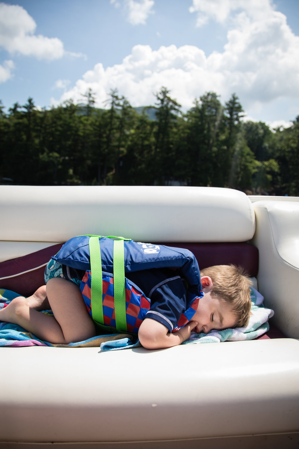 Nap time on the boat.