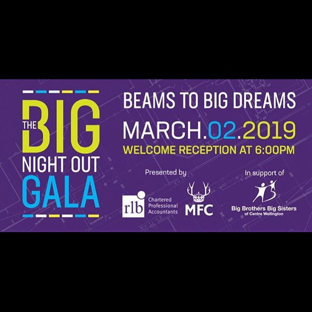 Honoured to be playing the #BBBS gala again this year for #bbbscentrewellington. This event really strengthens my understanding and appreciation for the kind of community I'm lucky to be apart of. Always a beautiful night. If you can't catch me there, later I'll be at The Black Badger Pub in Cambridge from 10-2.