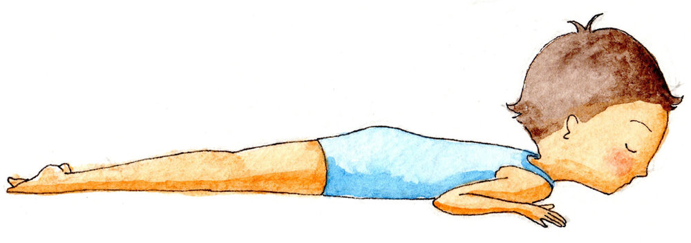 Inchworm (down)-Inch like an inchworm.