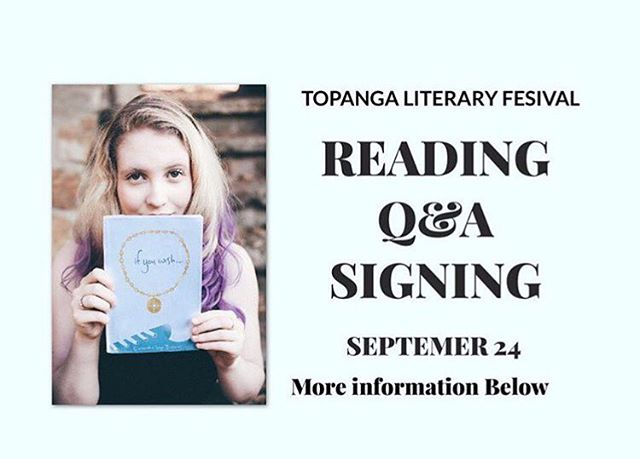REMINDER! Tomorrow at 10:30am I'm going to be at the Topanga Library reading from my debut novel If You Wish! The reading will be followed by a Q&A and signing, and it should be super fun! I hope to see your there! 💜