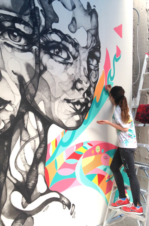 Nike Woman Mexico Mural Handpainted artists