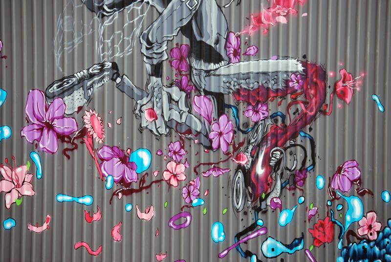 mural mercado de las flores mexico nike