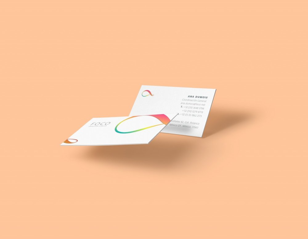 Foco Angelica Fuentes design business cards