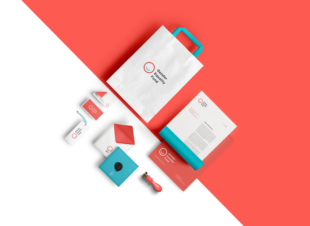 branding minimal red gender equality