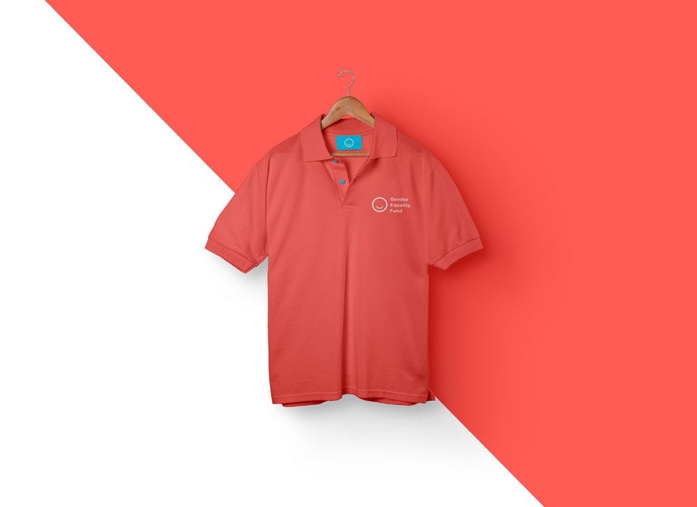 red shirt design diagonal