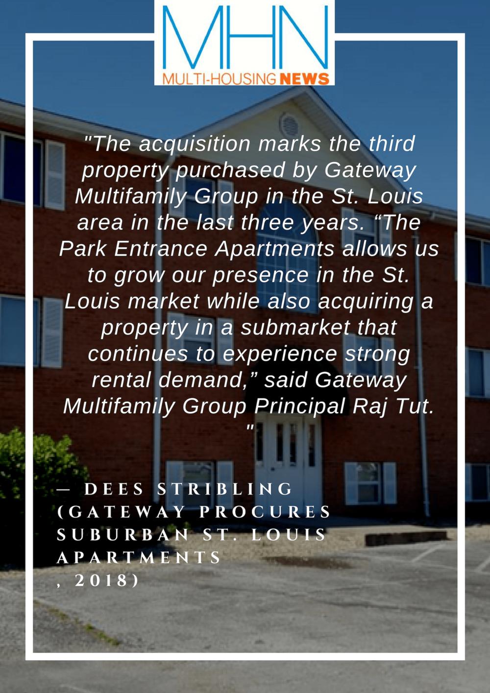 Gateway Procures Suburban St. Louis Apartments