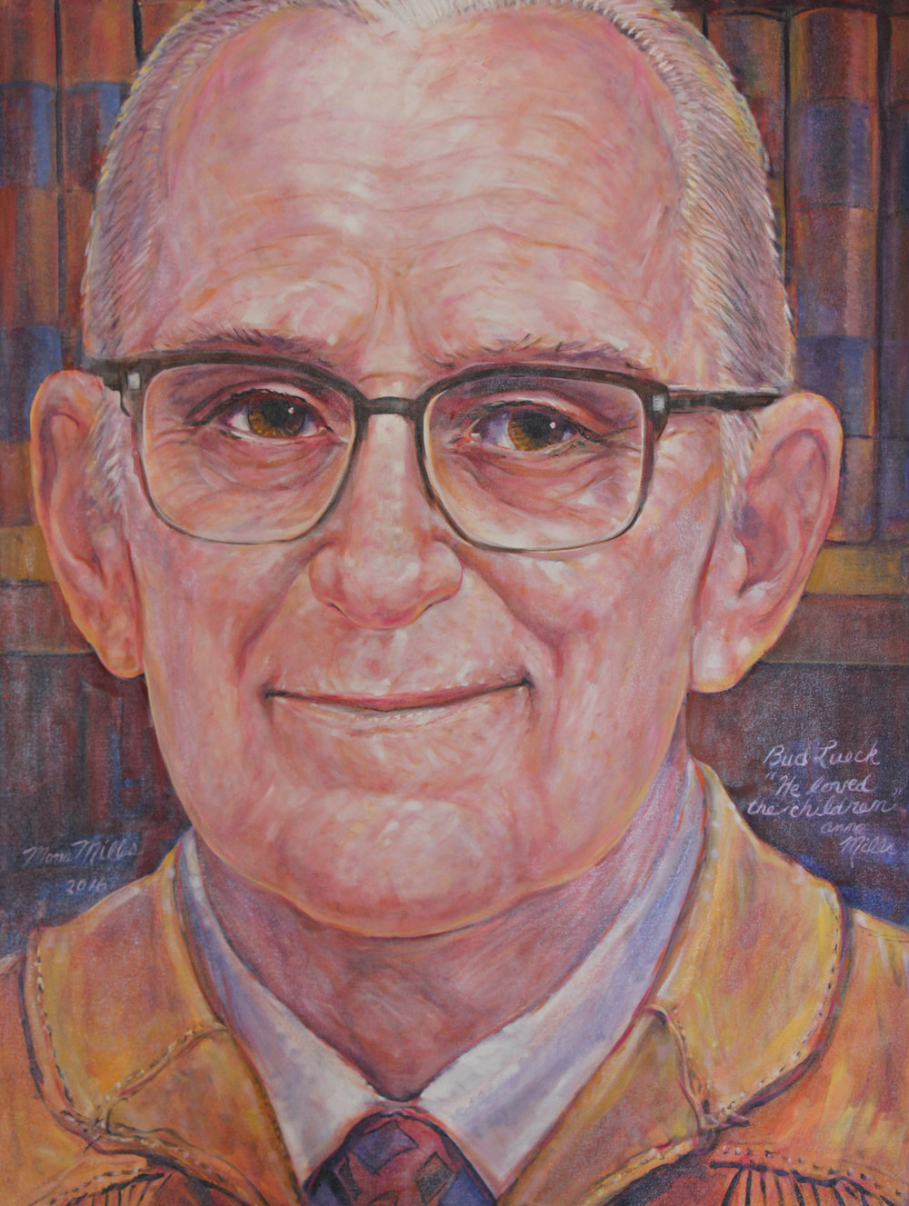 Painting of Bud Lueck by Mona Mills