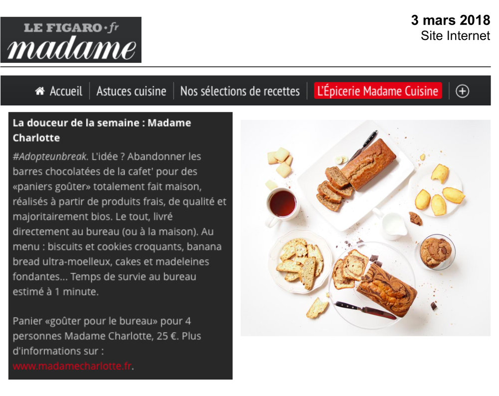 Madame Figaro Online - Mars 2018 -