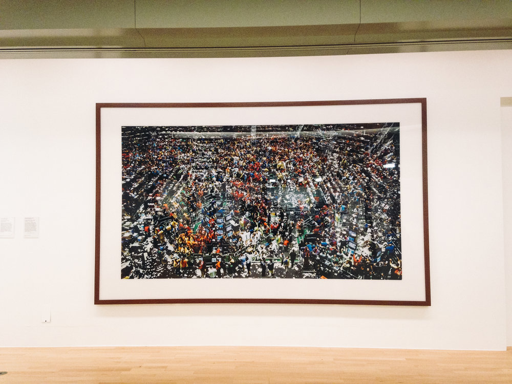 Andreas Gursky (Can't believe I got to see his work he's one of my favourite photographers)