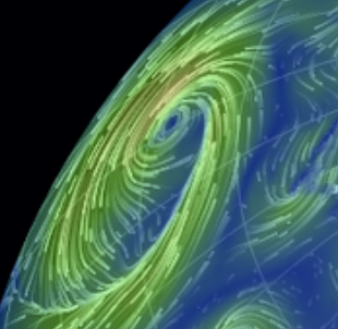 Earth :: a global map of wind, weather, and ocean conditions shows you real time events on Earth's surface. Fun to play around with and mesmerizing.