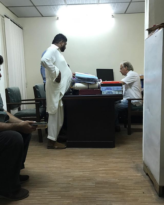 At the Karachi customs office--waiting for boxes of books shipped from New York  #latergram