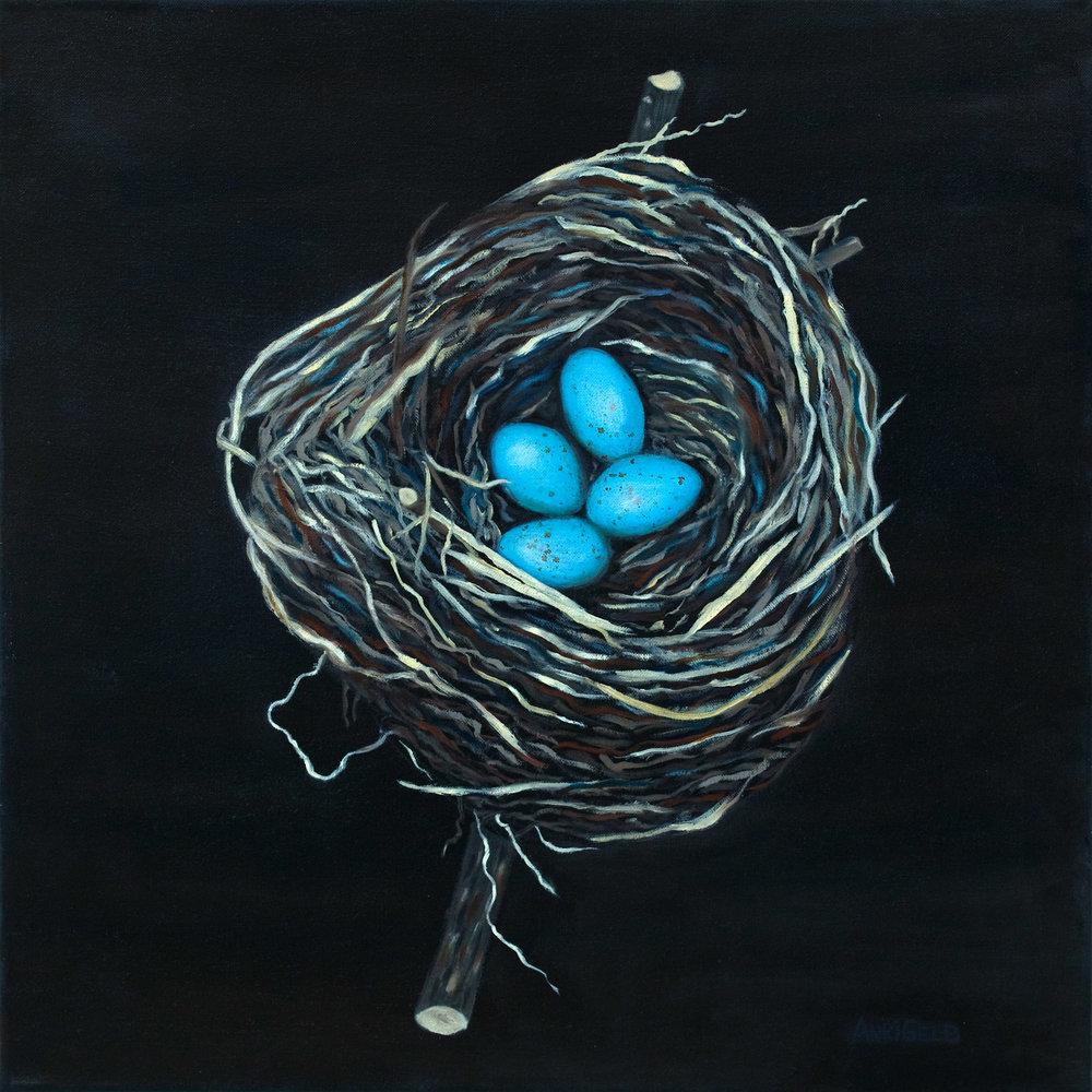 """Nest II, Oil on Canvas, 24""""24"""""""