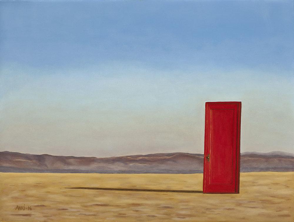 "Red Door, Oil on Canvas, 30""x40"", SOLD"