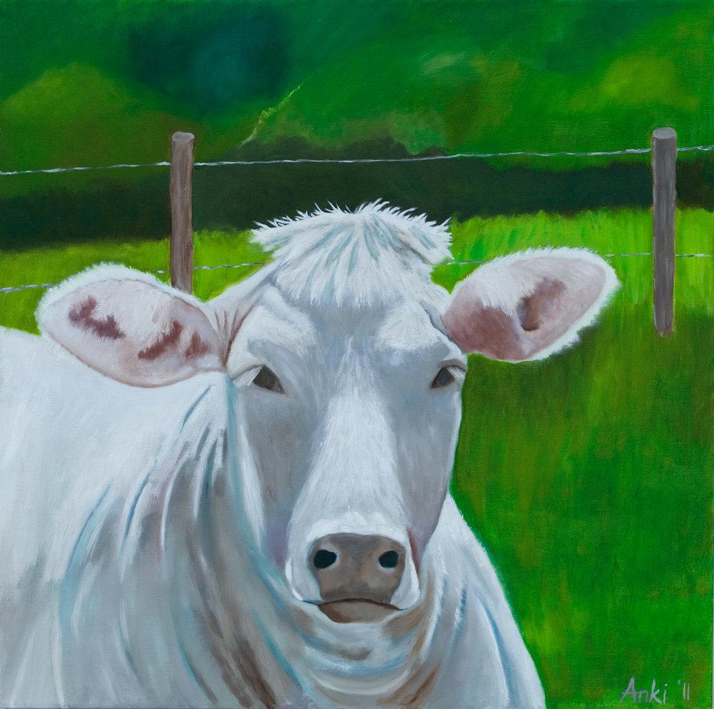 "Josette, Oil on Canvas 24""x24"". Sold"