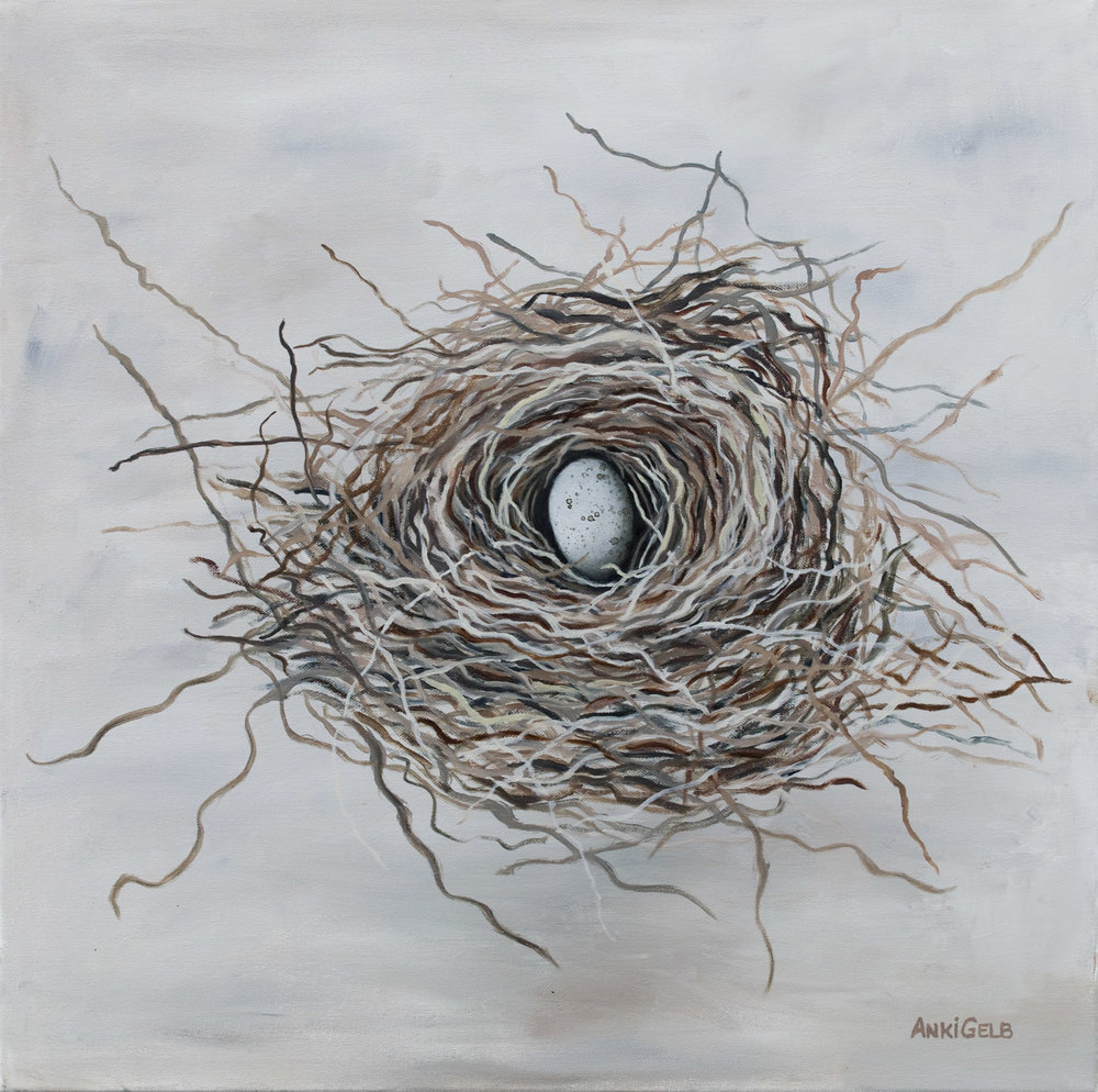 Nest 1, Oil on Canvas, 24x24, SOLD