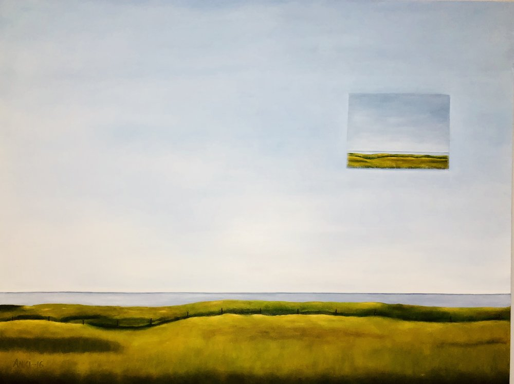 """Looking Beyond, Oil on Canvas, 30""""x40"""""""