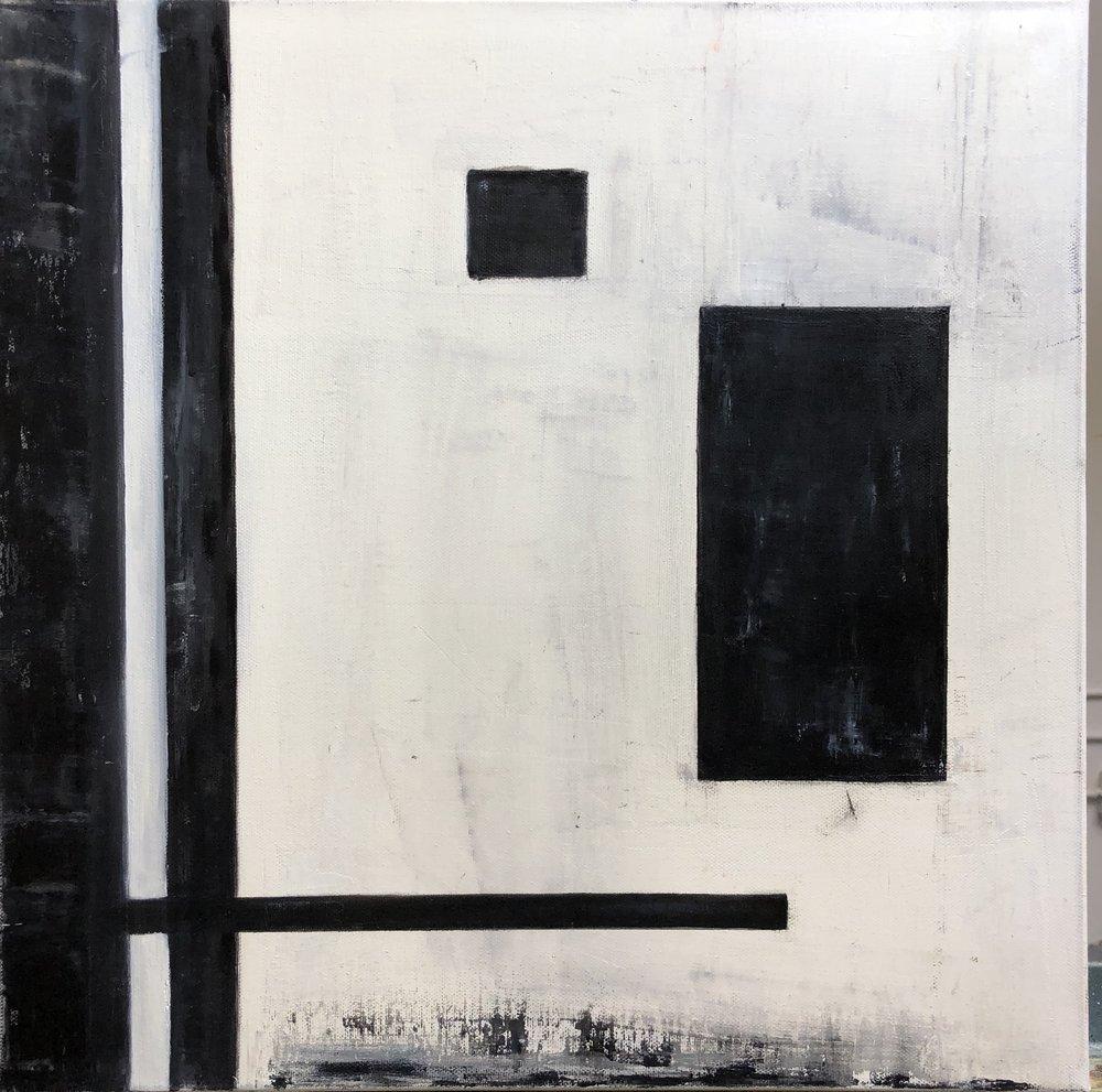 "Simplify I, Oil on Canvas, 16""x16"""