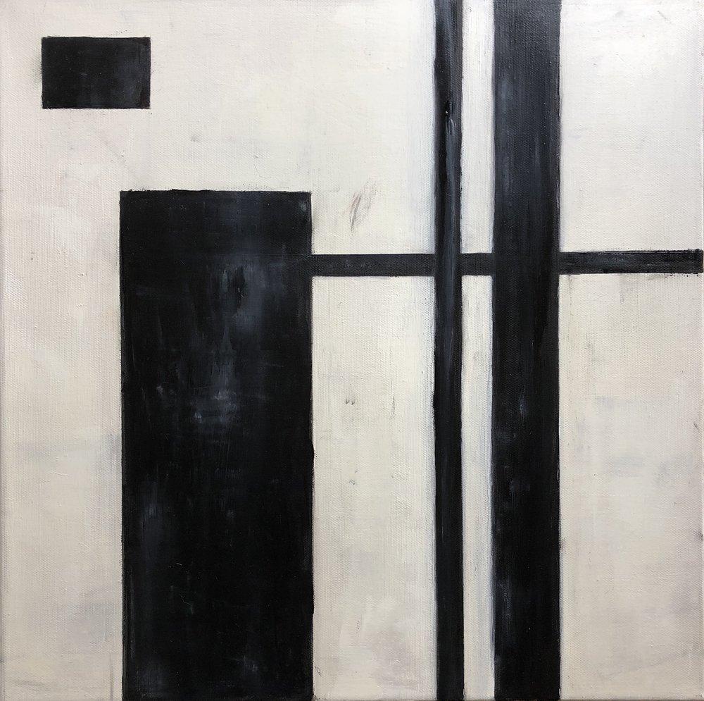 "Simplify II, Oil on Canvas, 16""x16"""