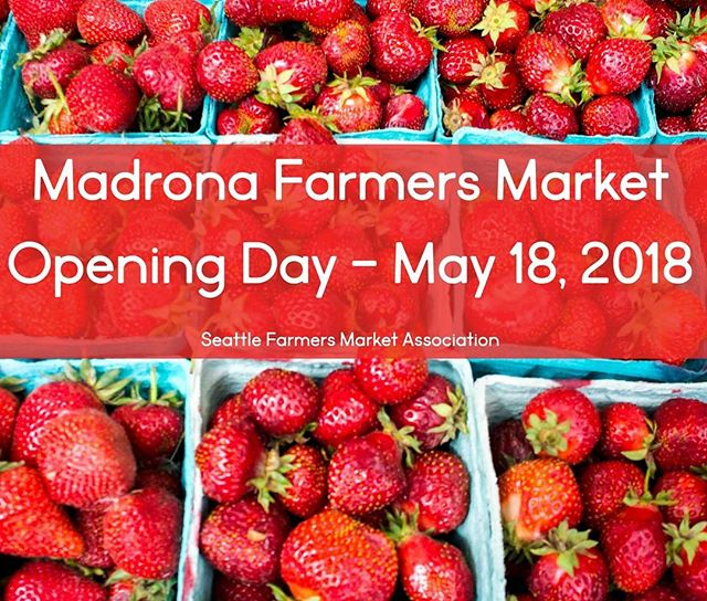 Who else is so excited about this?!?! . THIS Friday, the18th, is the first day of the Madrona Summer Farmers Market, from 3pm - 7pmI love this market!!! It is such a wonderful neighborhood full of amazing people. I can't wait to see al the faces from last year and meet all the new ones!! Come join us!