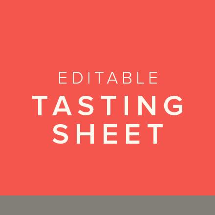 Editable Tasting Sheet