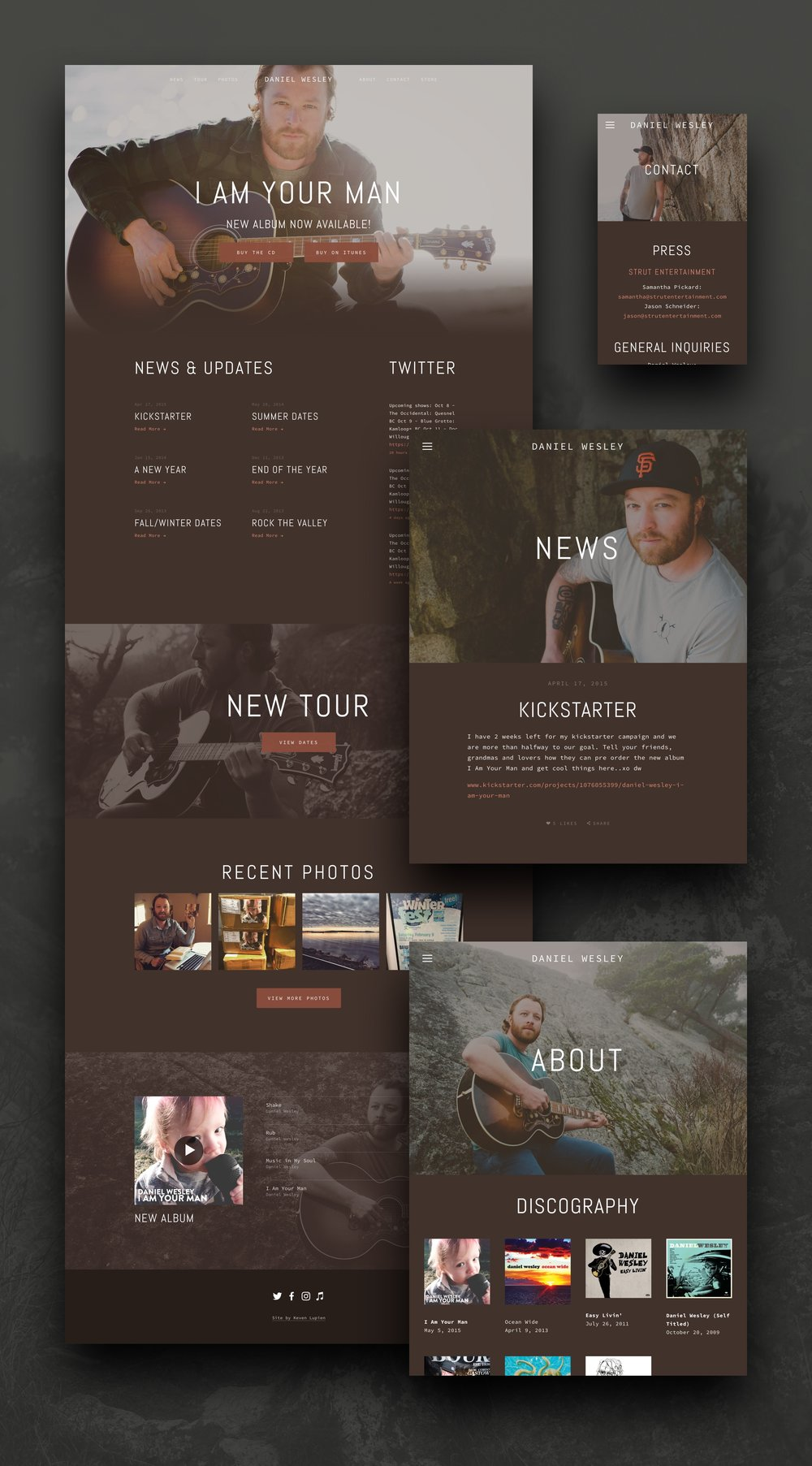 The finished product – clean and responsive.