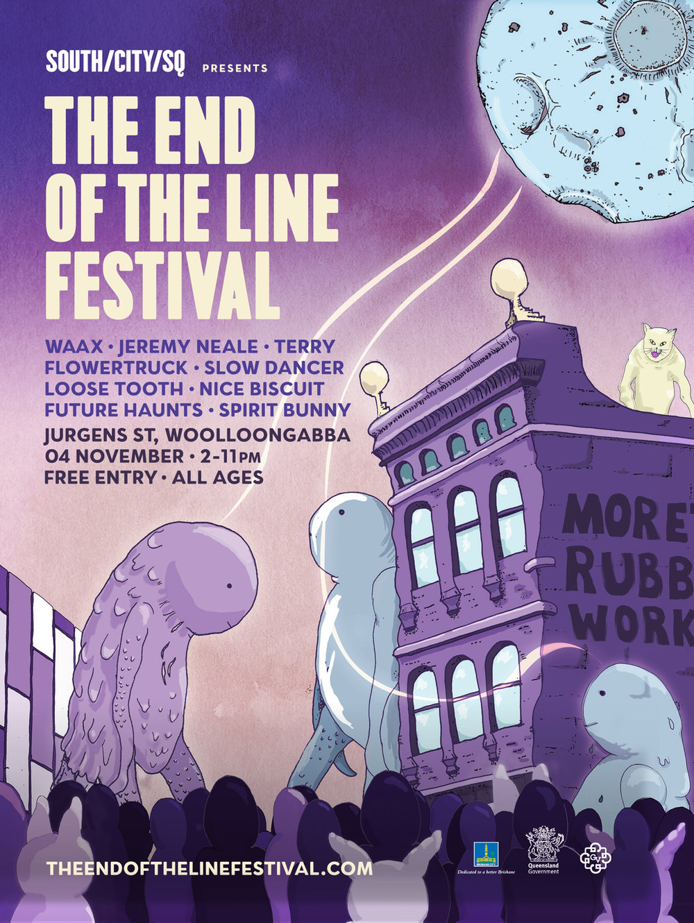 End of The Line Festival Poster 2017