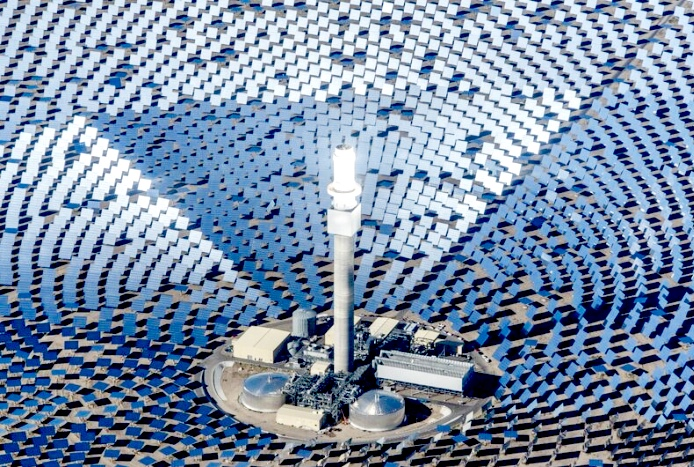 a solar thermal plant in Port Augusta, in all its space age glory