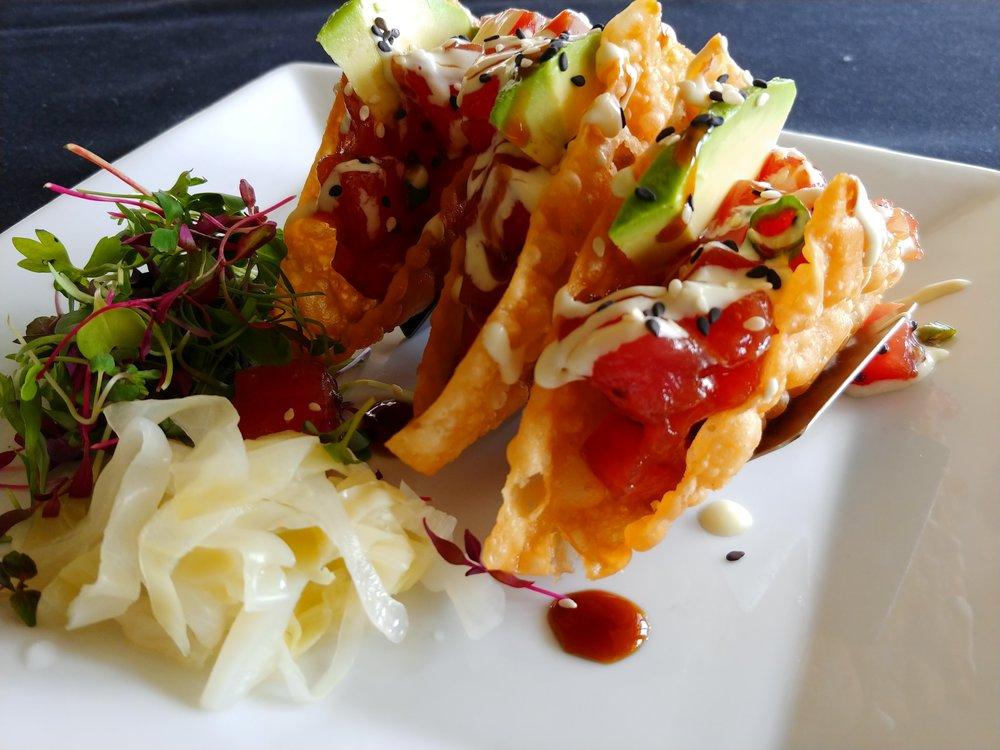 Hawaiian Ahi Poke Tacos