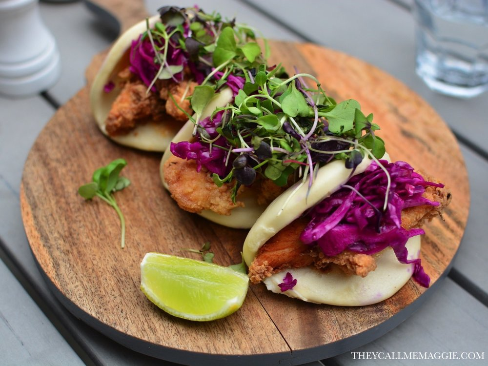 Southern fried chicken bao