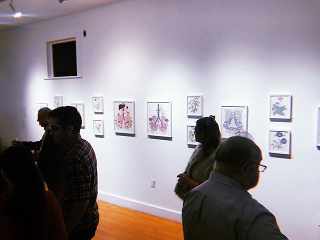 @aarondegruyter prints looked so good during the opening night. Some of his prints have already sold! Aaron's work is still on display at G Spot! Go check it out during gallery hours! Fri-Sun 12pm-5pm or by appt.  #aarondegruyter #printmaking #art #screenprints #screenprinting #gallery #anatomy #nature #houston #austin #atx #houstonart #localart