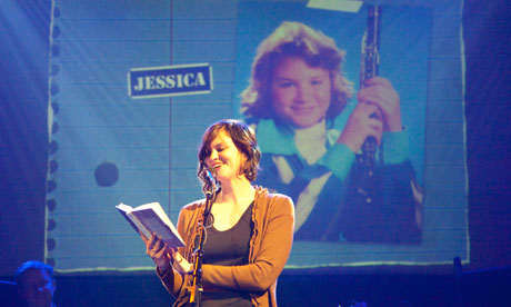 Jessica reads an entry about struggling to become a preferred child, and the special bond she developed with her mom while worked at her home cleaning company.