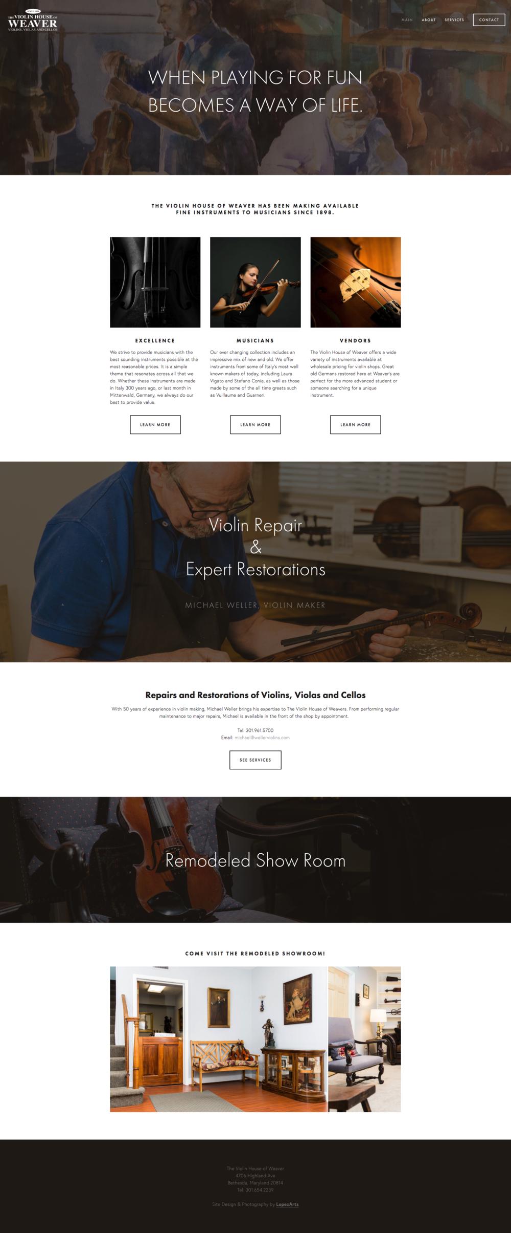 Weavers Violins Website