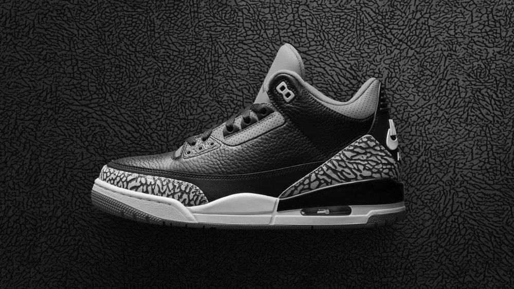AJ III 'Black Cement'. See more on Nike