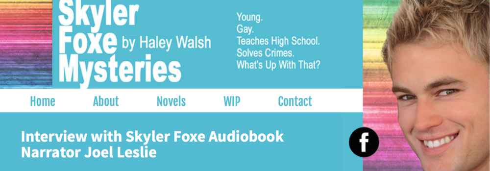 JOEL AND AUTHOR HALEY WALSH chat about Joel's background and narration process.