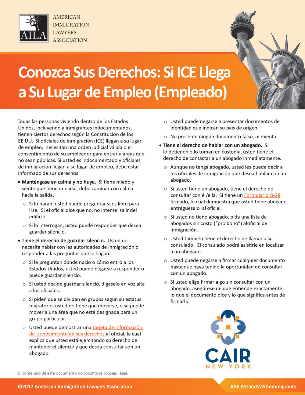 Know Your Rights (Spanish)