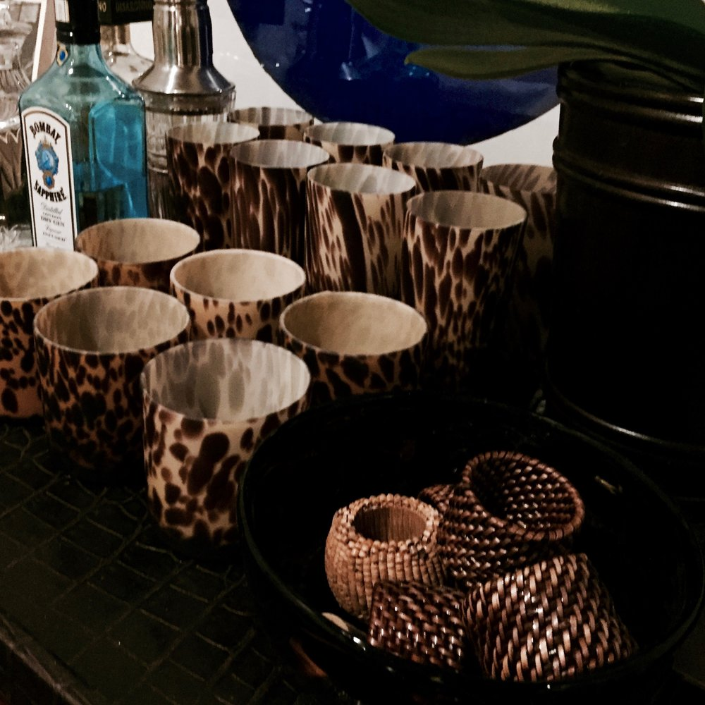 Animal Print Barware