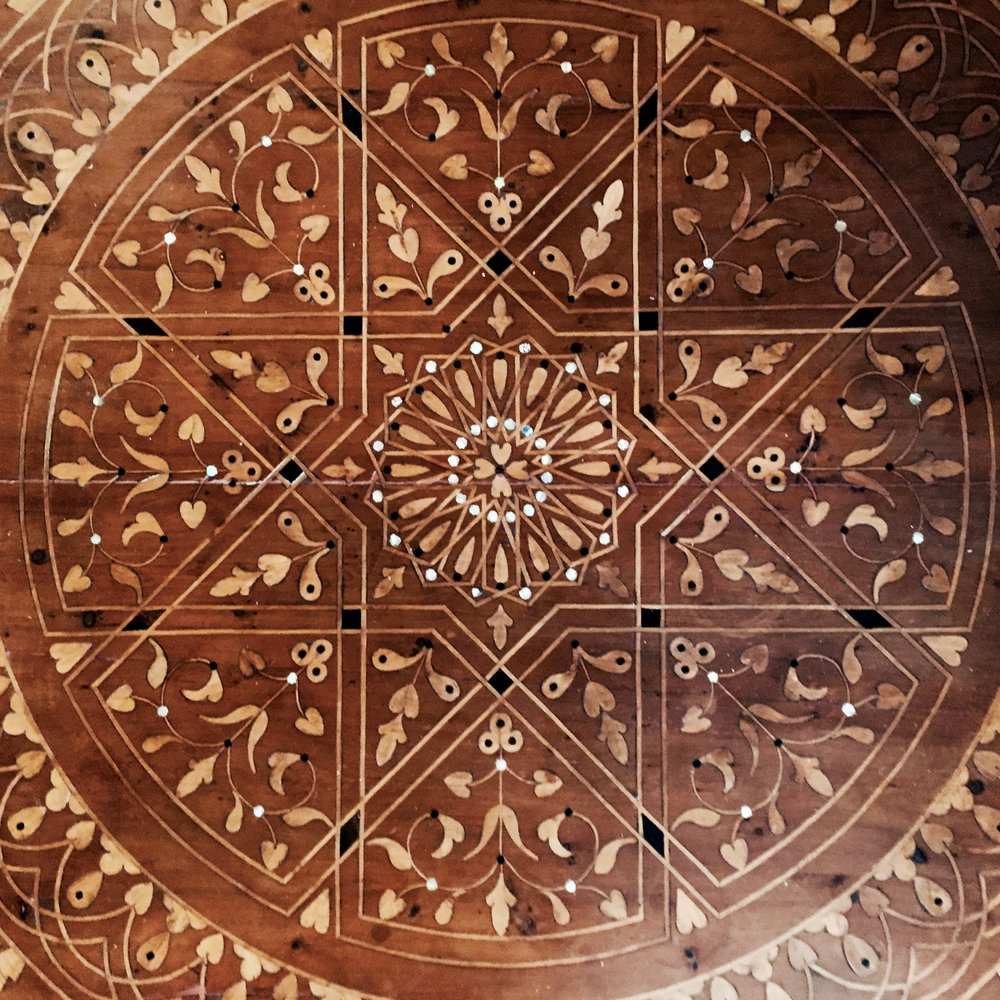 Moroccan Inlaid Low table