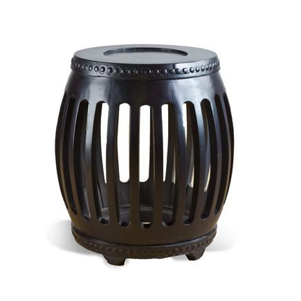 BLACK DRUM STOOL