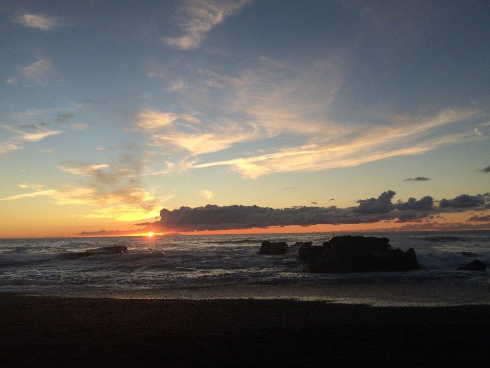 Black sand beach sunset, El Golfo,Lanzarote