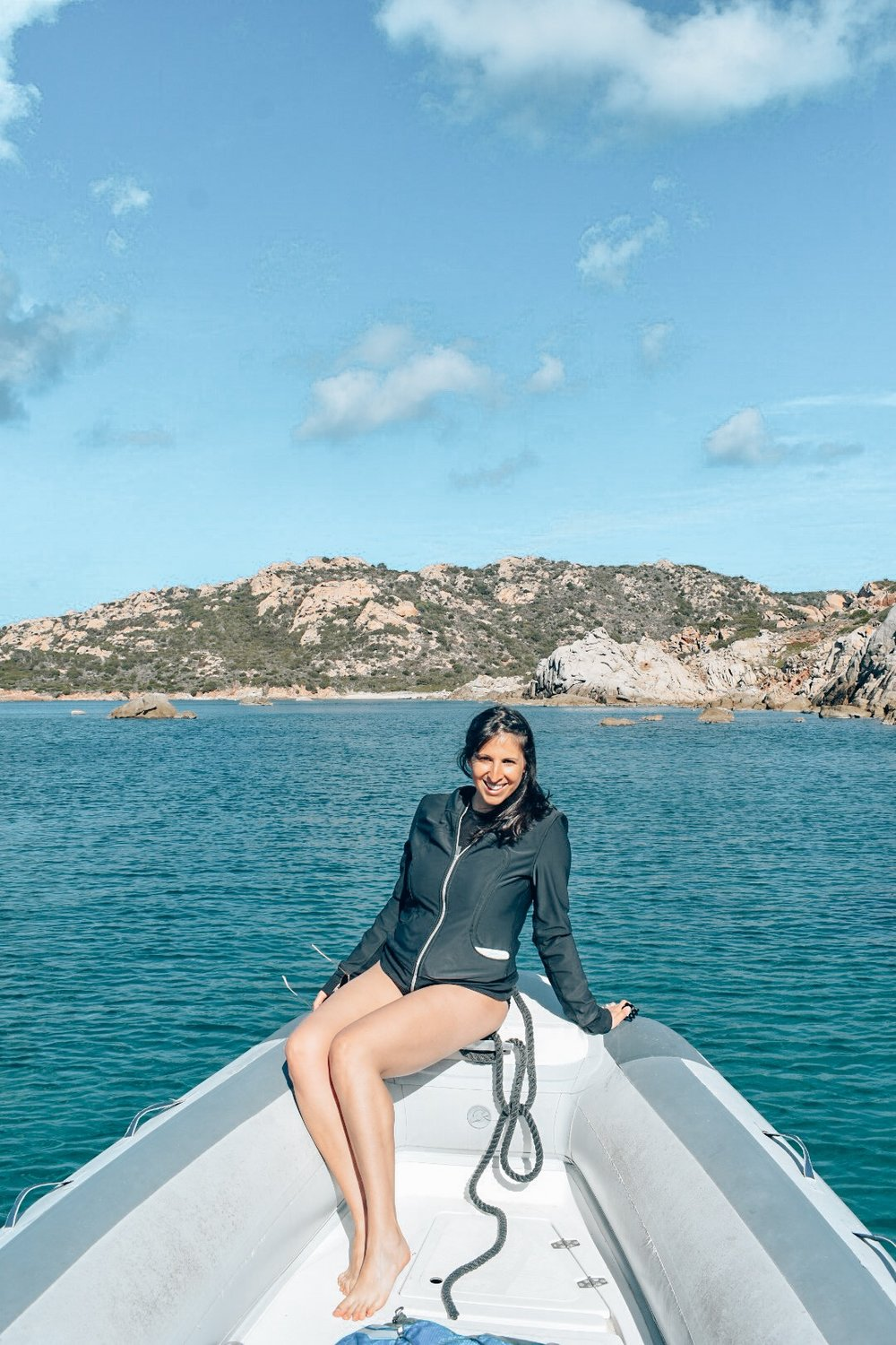 One of my favorite memories - sailing around La Maddalena (five months pregnant no less!)