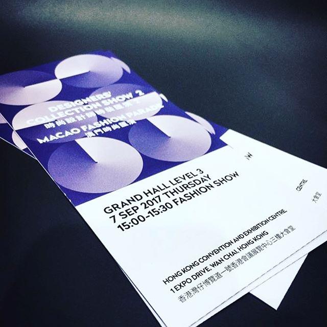 Don't miss the show, see you at 3pm! #axoxyxoxs #ss18 #fashionshow #centrestagehongkong #macaufashion #fashioninvitation