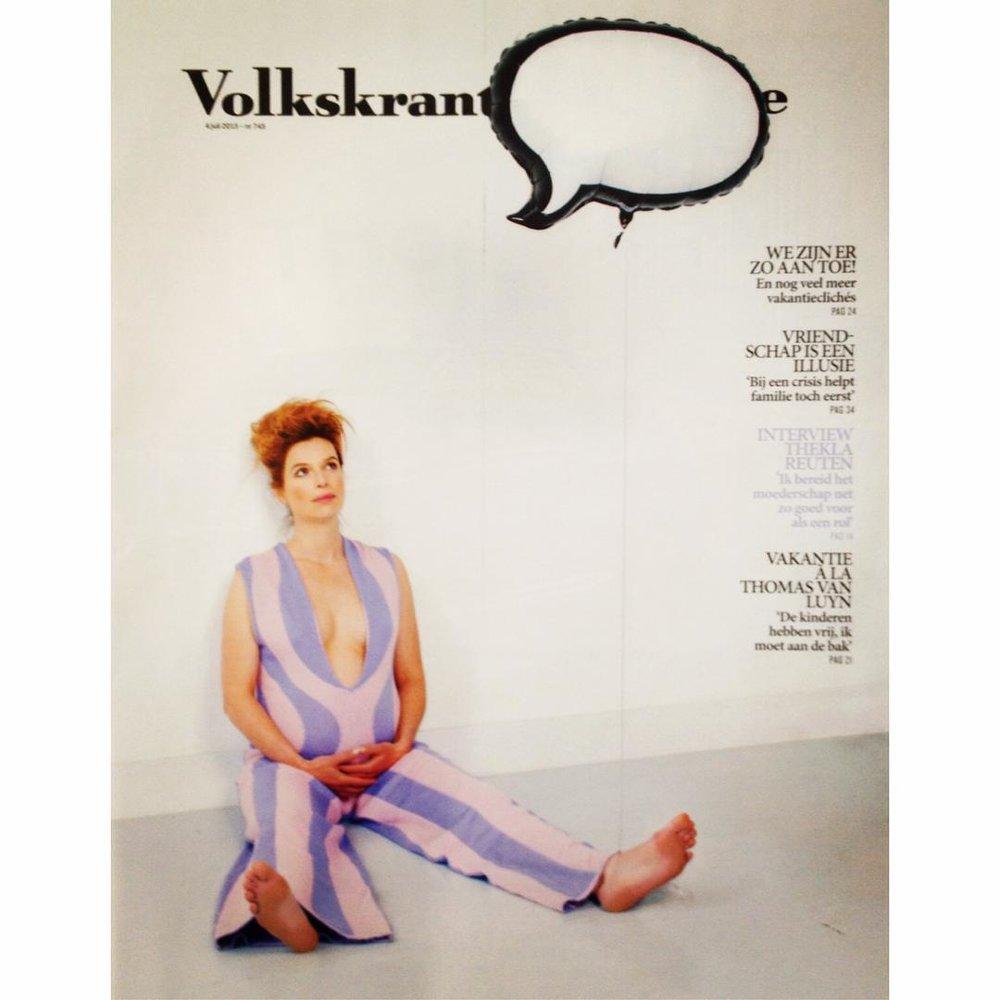 Volkskrant Magazine - Thekla Reuten in knitted pantsuit A:W2015-2016 JUNE 2015.jpg